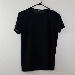 Forever 21 Sheer Black Top Size S